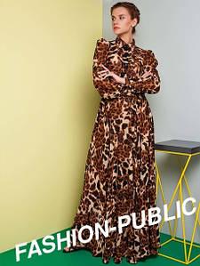 Платье в пол из шифона