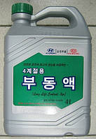 Antifreeze  hyundai long life coolant 2yr (4l) (concetrat) green* (производство Hyundai-KIA ), код запчасти: 0710000400