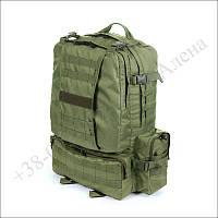 Тактический рюкзак 50 литров олива для военных, армии, туризма нейлон