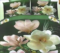 Комплект постельного белья евро размер Розовые Цветы,  постельное белье
