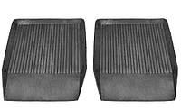 Коврики резиновые черные Lada 2101-2107 (2шт. передние) Дубно корыто