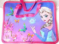 """Сумка пластиковая с тряпочной ручкой № 805 """"Frozen"""""""