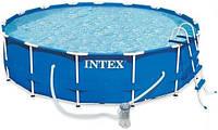 Каркасный бассейн INTEX 28718 (366 Х 98 СМ.) КАРКАСНЫЙ БАССЕЙН METAL FRAME POOL + ФИЛЬТРУЮЩИЙ НАСОС ***