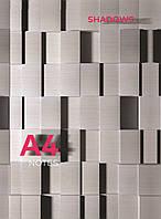 Тетрадь А4 твердая обложка 96л газетка клетка