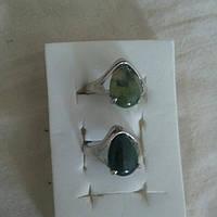 Женское кольцо с моховым агатом 17р 18р