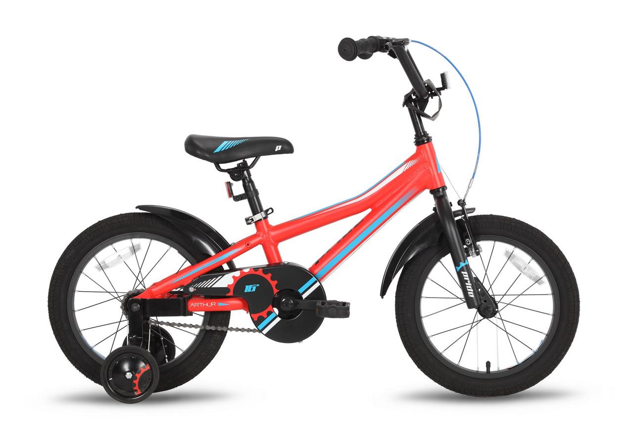 """Велосипед 16"""" PRIDE ARTHUR красный матовый 2016"""