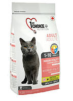1st Choice Adult Indoor Vitality корм для взрослых домашних кошек с курицей, 10 кг