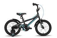 """Велосипед 16"""" PRIDE ARTHUR черно-синий матовый 2016"""