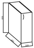 Нижние модули к кухне «Ваниль», 30Н