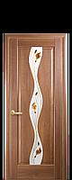 """Двери межкомнатные """"Новый Стиль Волна"""" рисунок 1 золотая ольха"""