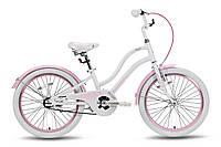 Велосипед 20'' Pride Angel бело-розовый глянцевый 2016
