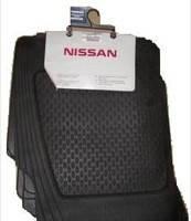 Ковры резиновые комплект nissan primera (p12e) 2002-2007 (производство NISSAN ), код запчасти: KE744AV089