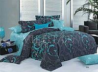 Двоспальний постільний комплект - ізумруд