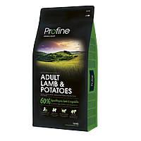 Profine Adult Lamb and Potatoes корм для взрослых собак с ягненком и картофелем (гипоаллергенный), 15кг