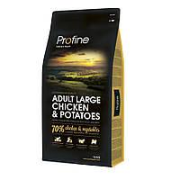 Profine Adult Large Chicken and Potatoes корм для собак крупных пород с курицей и картофелем, 15кг