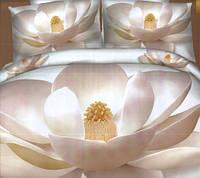 Комплект постельного белья евро размер Белая Магнолия,  постельное белье