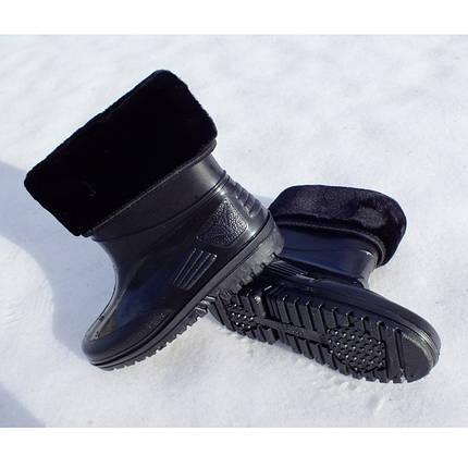 Детские сапоги силикон/ПВХ VR  утепленные черный глянец, фото 2