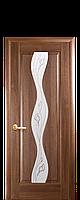 """Двери межкомнатные """"Новый Стиль Волна"""" рисунок 2 золотая ольха"""