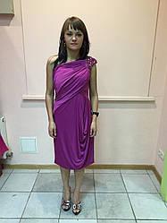 Платье женское красное нарядное вечернее сиреневое Lussilo S