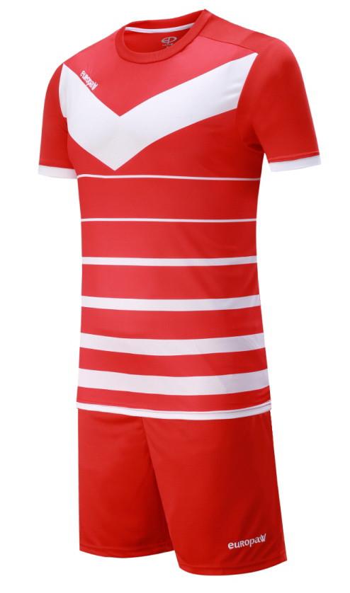 Футбольная форма Europaw 014 красно-белая
