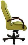 Кресло для руководителя Магистр вуд Кожа-люкс двухсторонняя, фото 3