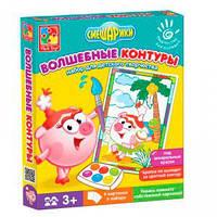 Набор для творчества, Волшебные контуры, Смешарики, VT4402-24, Vladi Toys