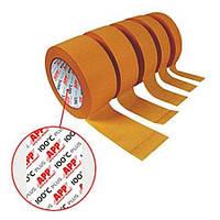Лента малярная маскировочная 110 С, коричневая, 30мм х 50м, APP