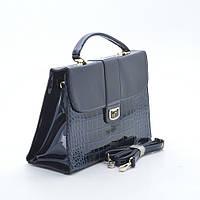 Женская деловая лаковая сумка Marino Rose синяя
