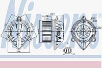 Вентилятор салона Opel, Nissan (производство Nissens ), код запчасти: 87173