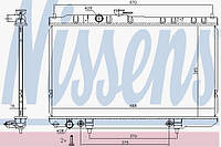 Радиатор охлождения nissan  almera classic (n16) at (производство Nissens ), код запчасти: 68736