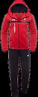 Спортивный костюм с капюшоном Bikk - 387C красный темно-синий