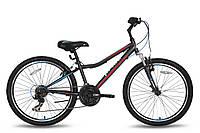 Велосипед 24'' PRIDE BRAVE 21 черно-синий матовый 2016