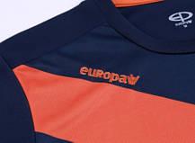 Футбольная форма Europaw 014 т.сине-оранжевая XS, фото 3