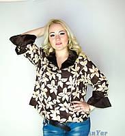 Блуза-ветровка женская большого размера KRISS MOREN