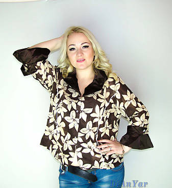 Блуза-ветровка женская большого размера KRISS MOREN, фото 2