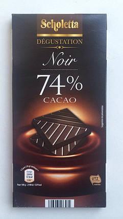 Шоколад Scholetta Noir 74% какао Франция 100г, фото 2