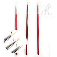 Кисть линеарная с красной ручкой