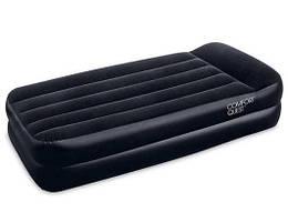 Надувная велюровая кровать 67401 191/97/46 см
