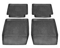 Коврики резиновые черные Lada 2101-2107 (4шт. полный комплект) Дубно корыто