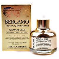 Сыворотка антивозрастная с золотом  BERGAMO Premium Gold Wrinkle Care Ampoule, 30 мл