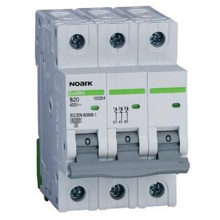 Автоматичний вимикач 6 kA, хар-ка C, 32 A, 3 полюси, фото 2