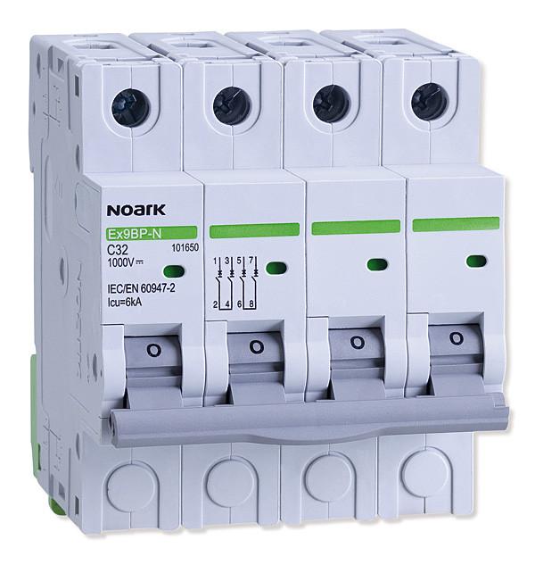 Автоматичний вимикач 6 kA, хар-ка C, 8 A, 4 полюси