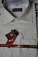 Белая стрейчевая приталенная рубашка BENDU (размеры от 37 до 43)
