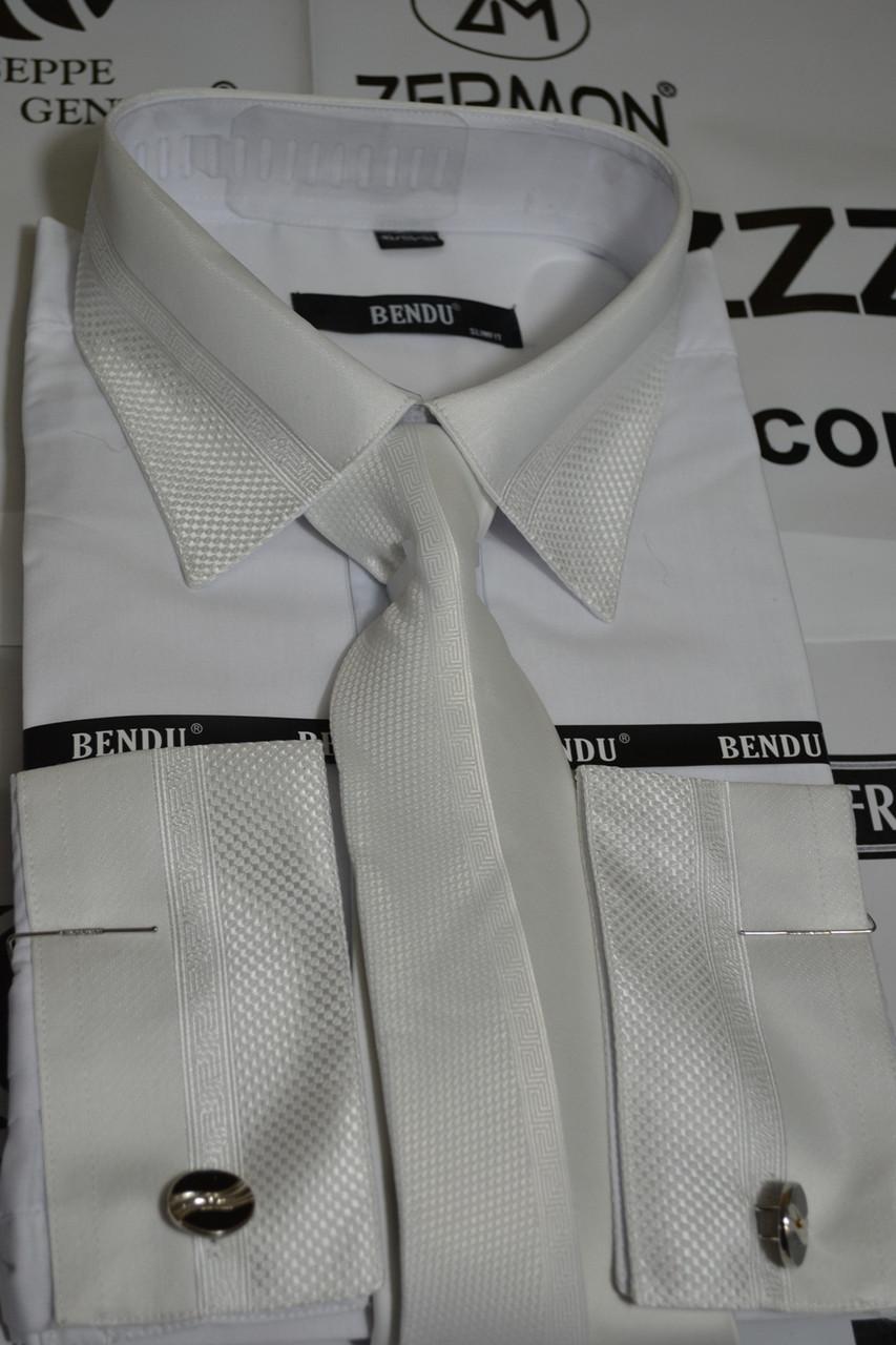 Белая рубашка с галстуком BENDU