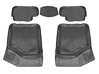 Коврики резиновые черные Lada 2108-21099/2113-2115 (4 штуки +перемычка) Дубно корытом