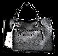 Прекрасная женская сумка из искусственной кожи David Jones черного цвета, BBN-101086