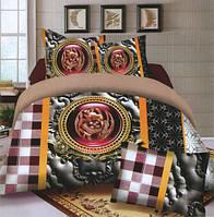 Комплект постельного белья евро размер Абстракция клетка,  постельное белье