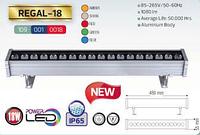 Линейный прожектор 18W POVER LED IP65 (янт,3000К,крас,зел,син)