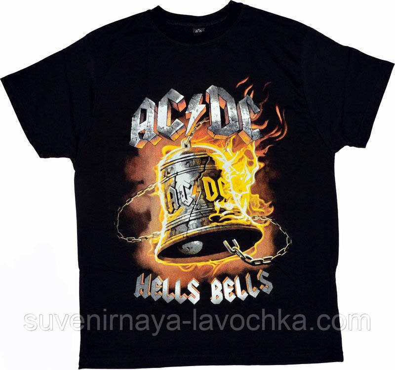 Рок футболка AC/DC. Hells Bells