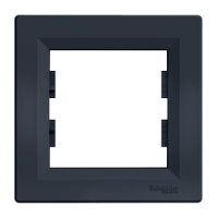 Рамка 1-местная горизонтальная антрацит Asfora Schneider (EPH5800171)